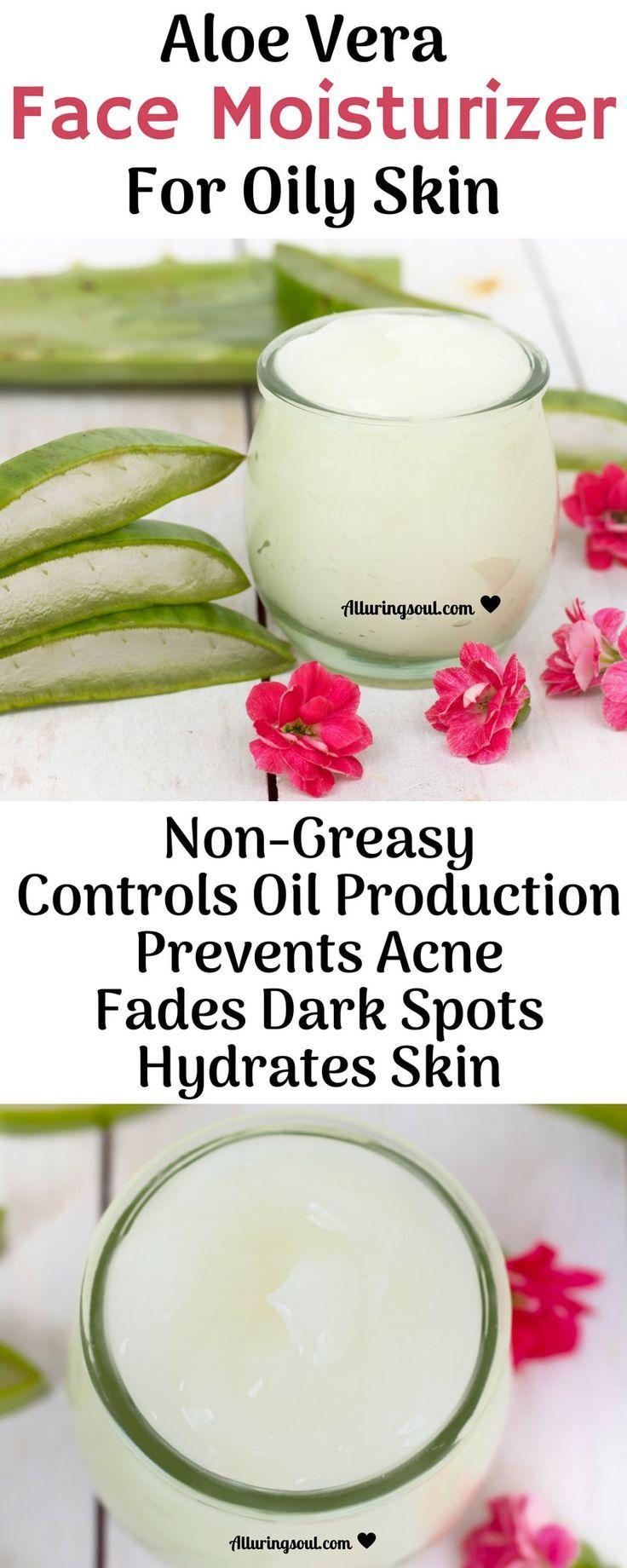 DIY Aloe Vera Face Moisturizer For Oily Skin – #Al…