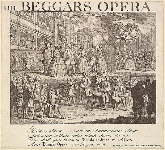The Beggar's Opera. (18th cent. Artist unknown.)