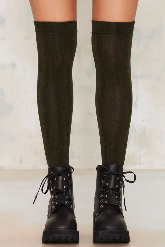 how to make knee high socks from scratch