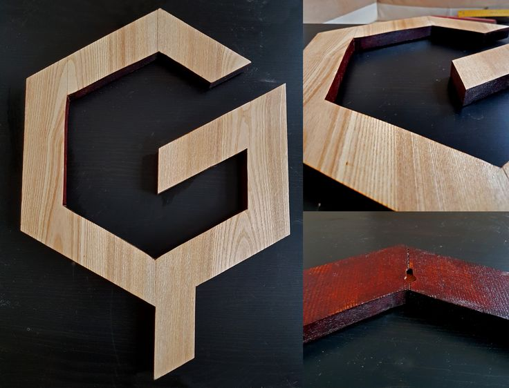 Letter G out of Ash wood