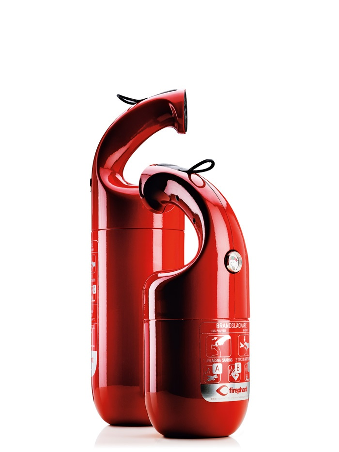 'Firephant' Fire Extinguisher (2012 Red Dot product design award). Lovely bit of design this.