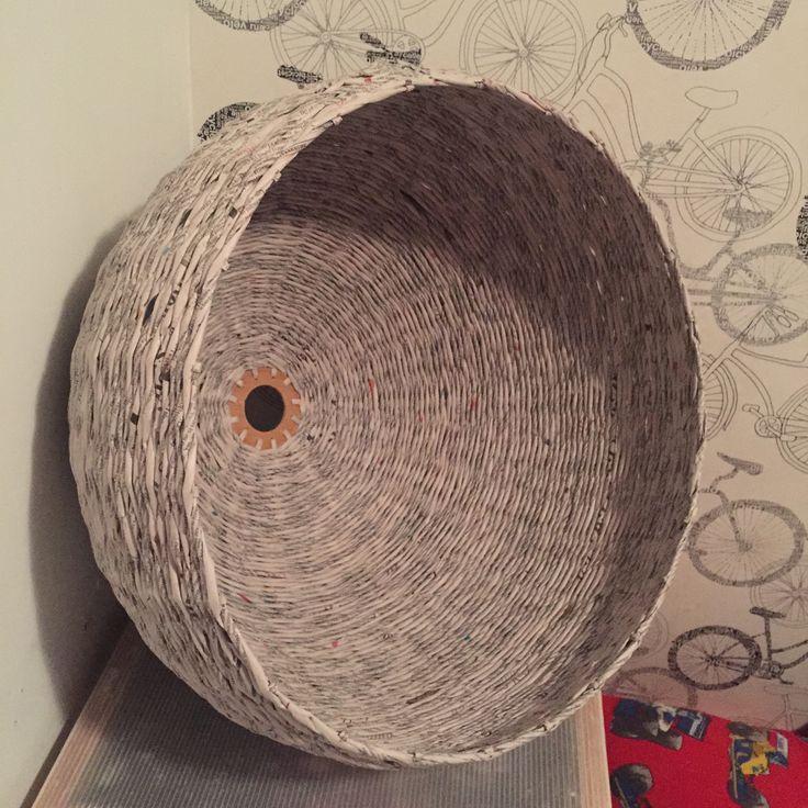 lampa 2 z papierowej wikliny hand made