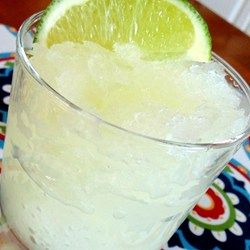 "Bucket of Margaritas | ""These slushy margaritas are made in the freezer. No blending required! But they must be made ahead to allow time to freeze."""