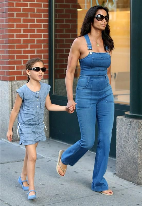 Padma Lakshmi got in on the shirtless overall trend and sported the style while out with her daughter in New York City. - Best Summer 2016 Trends - Street Style