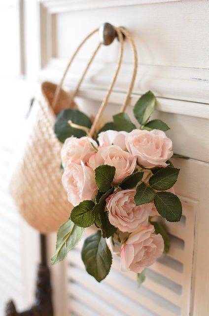 Beautiful Soul - lovepastels:   pink rose basket by tmknoka on...