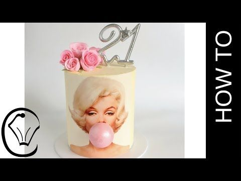 Marilyn Monroe Bubble Gum Birthday Cake by Cupcake  Savvy's Kitchen - YouTube Good straight sides technique