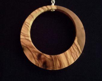 Olive Wood Pendant wood jewelryHeart