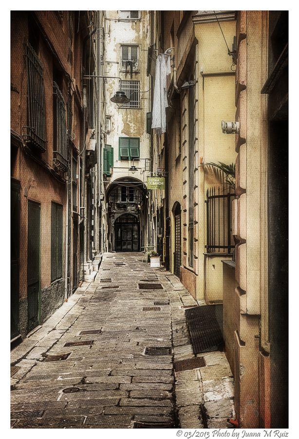The ancient Genoa, Italy