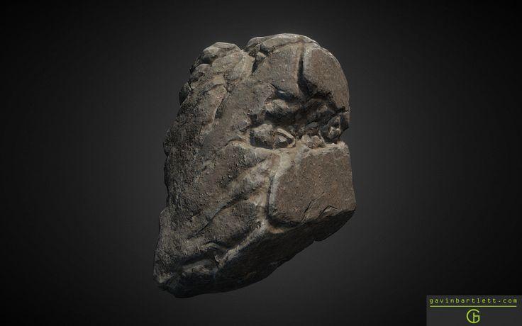 Collection of Rocks, Gavin Bartlett on ArtStation at https://www.artstation.com/artwork/bVX5r