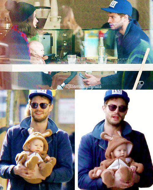 mllemileycyrus: Jamie Dornan, his wife Amelia and their baby in… | Jamie Dornan News