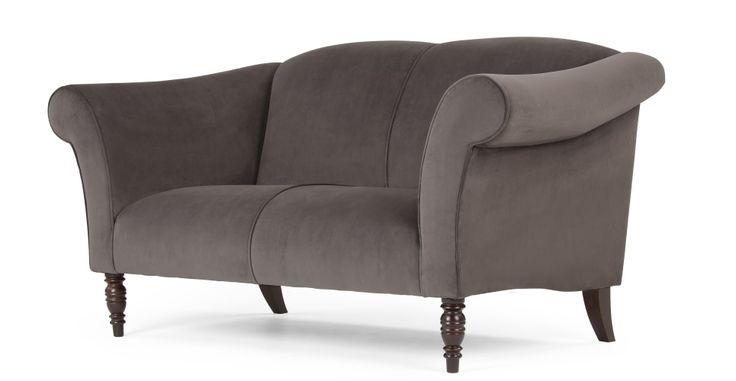 Garston 2-Sitzer Sofa in Windhundgrau - MADE.COM | MADE.COM