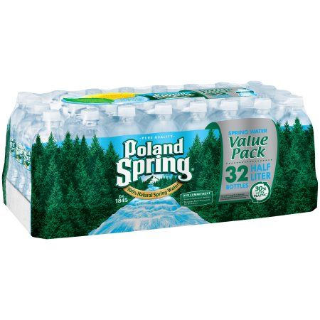 Poland Spring Brand 100% Natural Spring Water, 16.9-ounce plastic bottles (Pack of 32)