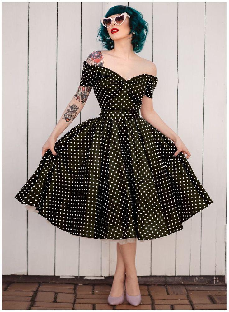 Vestido vintage anos 60 anos 50 pinup bolinhas em 2020 | Vestidos vintage, Vintage, Vintage retrô