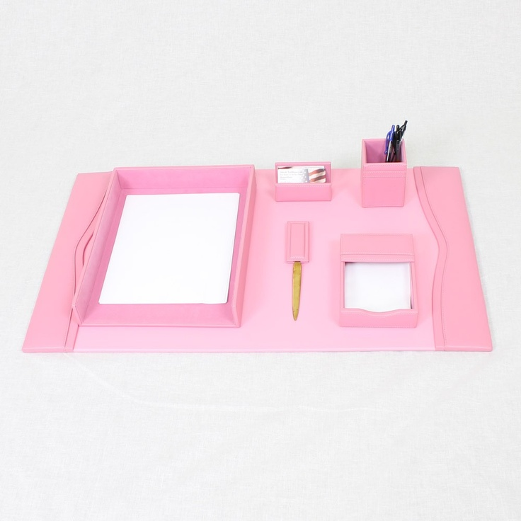 Pink Office Supplies No Desk Needed