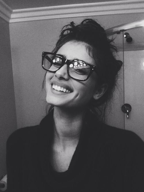 Angel in big glasses...