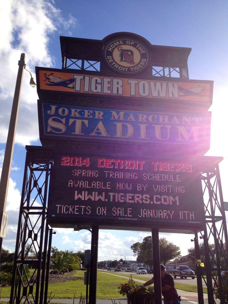 Joker Marchant Stadium in Lakeland, FL Home of the Detroit Tigers Spring Training December 6, 2013