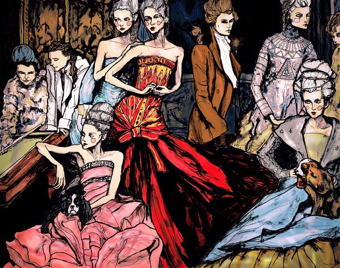 #donnevincenti Artist Danny Roberts is Inspired French Twists editorial by Annie Leibovitz for Vogue US May 2004 issue