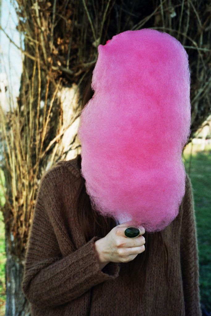 Pink Candy floss , only ever bought at the carnival / they