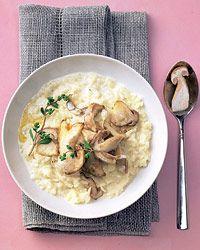Gourmet-Küche: Steinpilz-Risotto à la Lea Linster - BRIGITTE  -> sehr lecker, allerdings muss ich (wenn es eine Hauptspeise für 4 Personen sein soll) das nächste Mal deutlich mehr Reis nehmen. 300 g Reis und 400 g Pilze waren etwa knapp... :-)