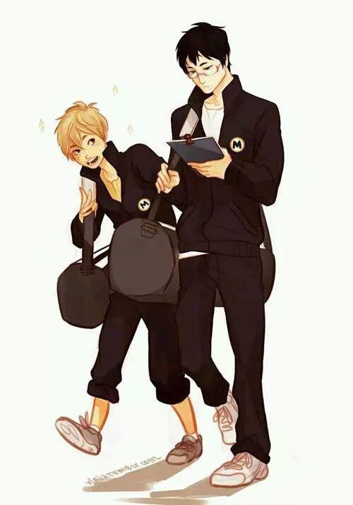Genderbend Yachi and Kiyoko