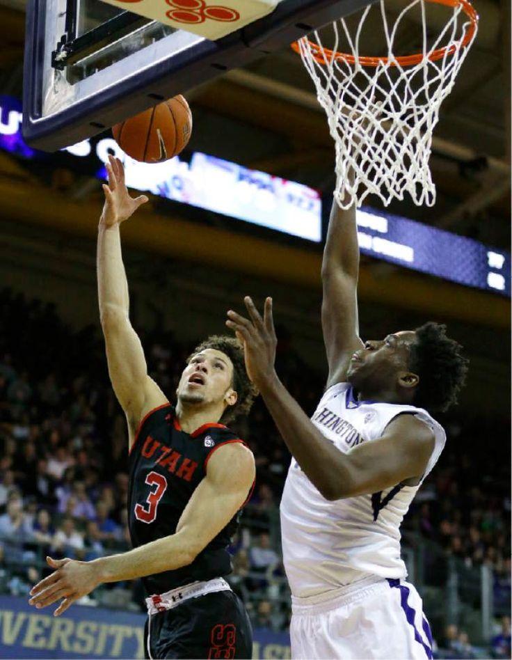 University of Utah guard Devon Daniels. Runnin' Utes basketball.