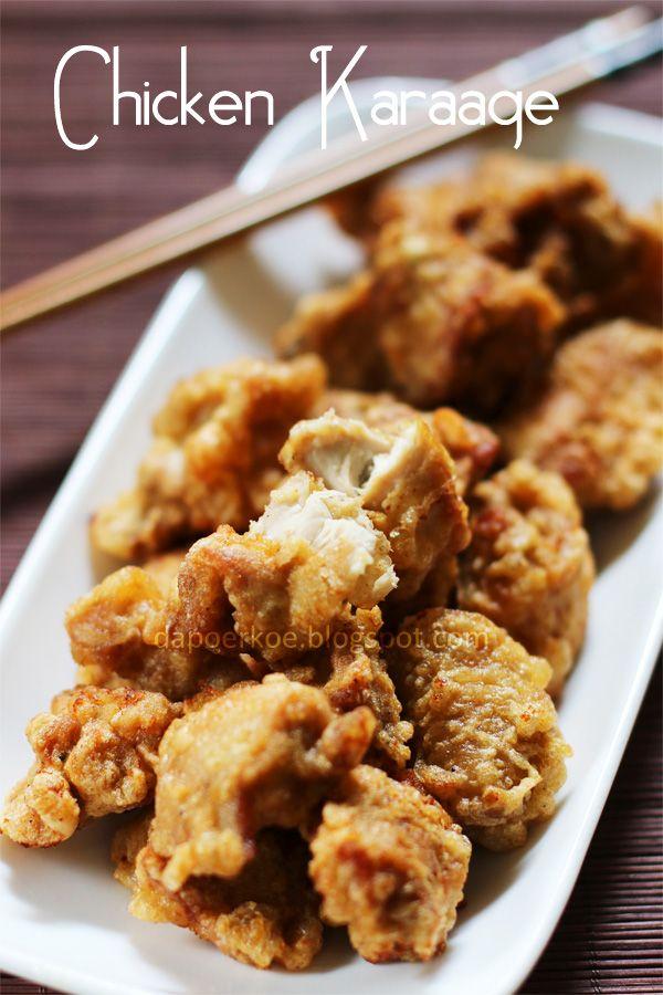 Chicken Karaage Resep Masakan Jepang Makanan Resep Makanan