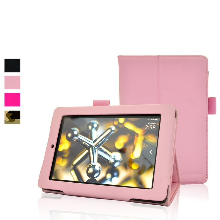 Fire HD 7 (2014 Edition) Case,Lightthebo Classic Slim Fit Folio Leather Case for Amazon Kindle Fire HD 7 Inch 2014 Tablet (With Auto Wake/Sleep Feature) (Pink) $17.99 http://www.amazon.com/gp/product/B00SMJF96Q/ref=olp_product_details?ie=UTF8&me=