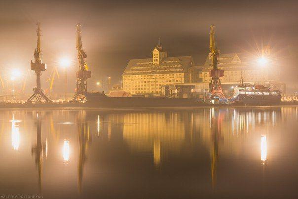 Калининградский портовым элеватором конвейер как в супермаркетах