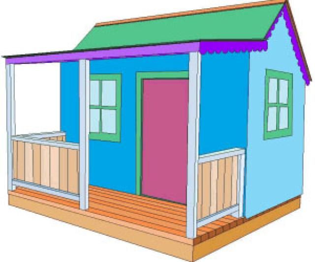 Wendy house plans free woodworking projects plans for Free playhouse blueprints