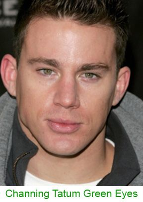 Green Eyes Channing Tatum-  Where do green eyes come from?