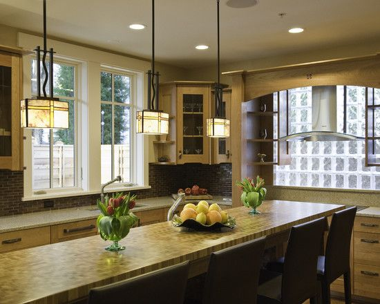 Craftsman lighting design pendant lights in kitchen