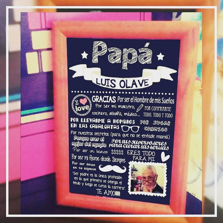 Ya comenzamos a preparar el catalogo para el DIA DEL PADRE!! Sorprende con un regalo unico y personalizado ... cuadro con marco de madera y vidrio personalizado con frases para tu #papá $9.990 #decovicio