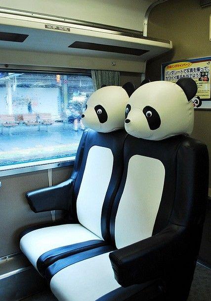 Shinkansen Panda Seats - yes please!