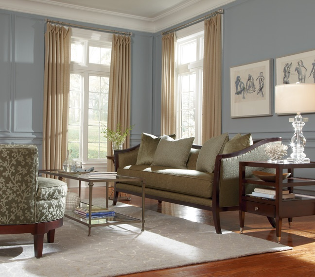 as shown giselle sofa with spellbound living room tables - Thomasville Living Room Sets