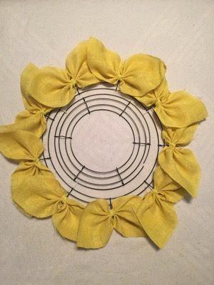 Burlap Sunflower Wreath   A Splash of Charm