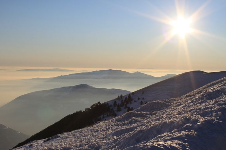Above the clouds at Mount Falakro, Macedonia, Greece.