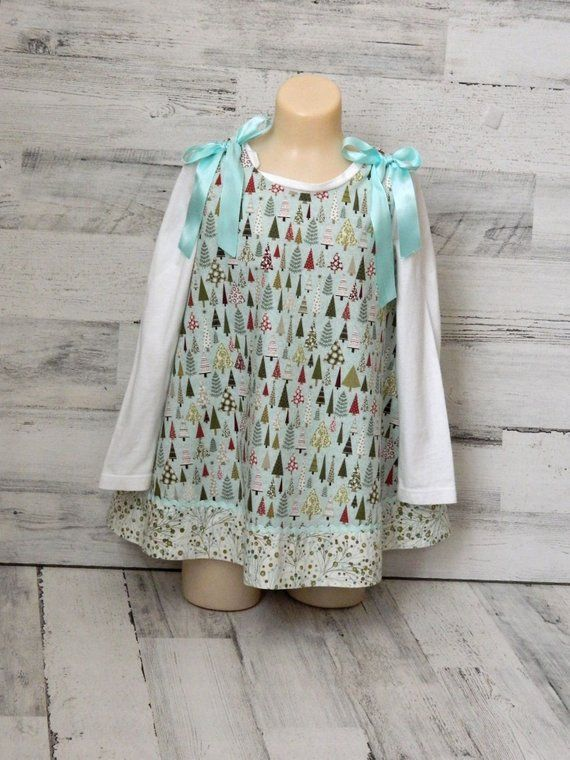 8ed9372e5db Girls Holiday Dress - Boutique Christmas Dress for Toddlers - Size 2T  Clothes - Handmade Clothing - Christmas Clothing for Little Girl