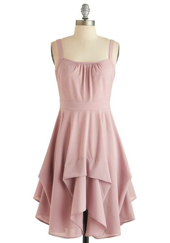Always Have Paris Dress - Short, Pink, Solid, Ruffles, Party, A-line, Spaghetti Straps, Sweetheart, Pastel, Exclusives