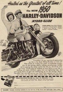 1950 Harley-Davidson Hydra-Glide advert