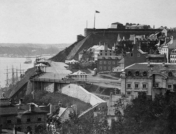 La Terrasse Dufferin vers 1880