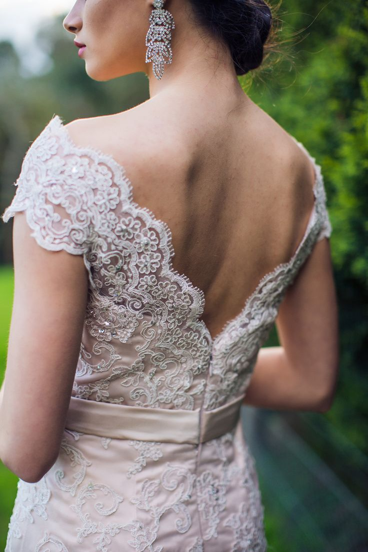 Beautifull Back Details. Vintage Pink. Custom made Gowns. See more riversidegowns.com.au