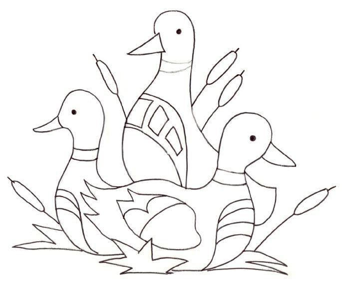 Embroidery Patterns Ducks And Swans