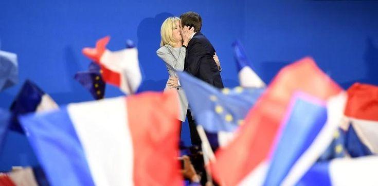 Το φιλί της επόμενης πρώτης κυρίας της Γαλλίας στον Εμανουέλ Μακρόν