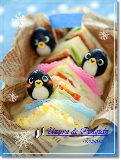 OCNお弁当クラブ掲載 うずらペンギンさんのお弁当