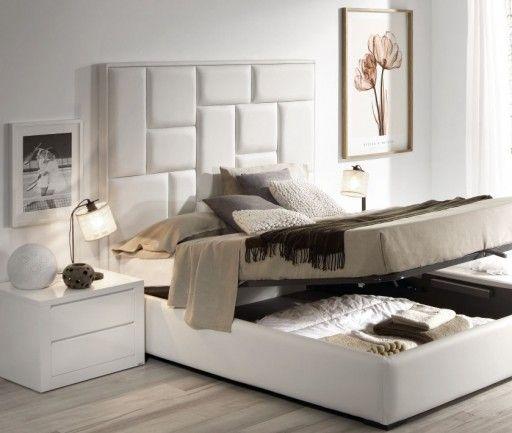 #Orden en el #dormitorio. #Cama con #canapé abatible de la colección Square de Kibuc.