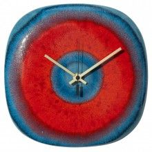 See all RED AND ORANGE CLOCKS from ART CLOCKS at www.artclocks.co.uk/red-and-orange-clocks. Buy Handmade Pottery Wall Clocks by John Fraser: www.artclocks.co.uk