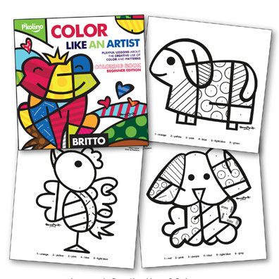 BRITTO COLORING BOOK FOR BEGINNERS