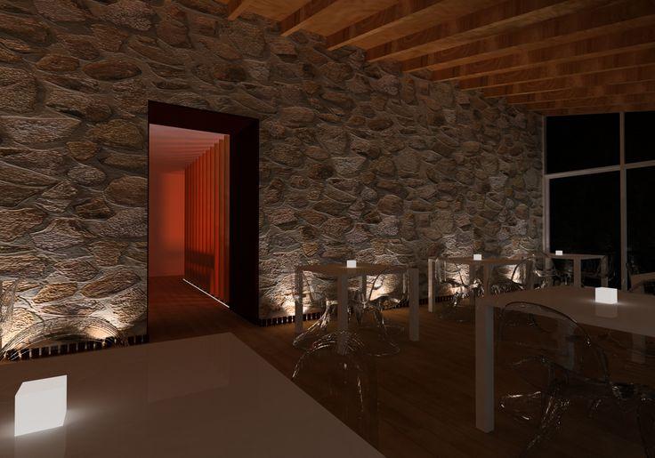 3d porche acristalado en terraza de restaurante en andratx - Piedras de luz ...