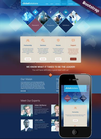 Global Solutions website template