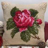 Twilleys - Antique rose Cushion Front - Large Count